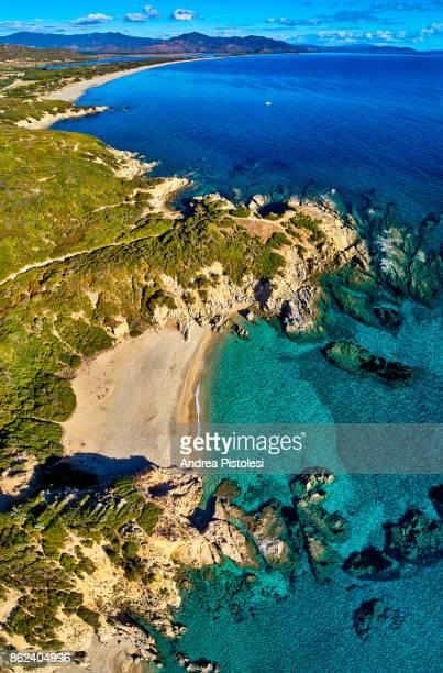 sardinia southeast coast, italy - cerdeña fotografías e imágenes de stock