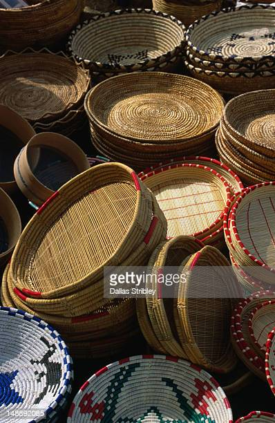 Sardinian basketware for sale at the S'Ardia festival.