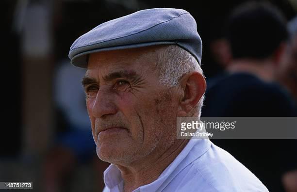 Sardinian man at the S'Ardia festival.