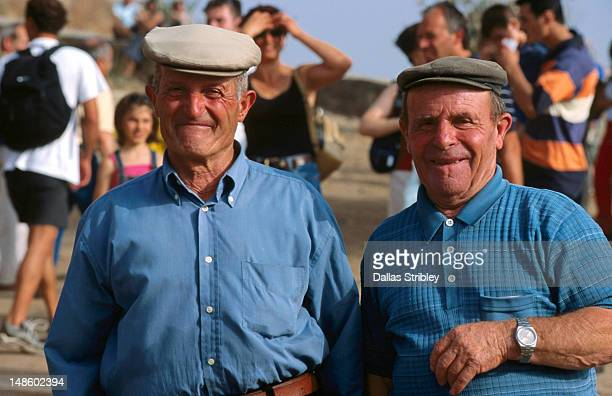 Sardinian men at the S'Ardia festival.