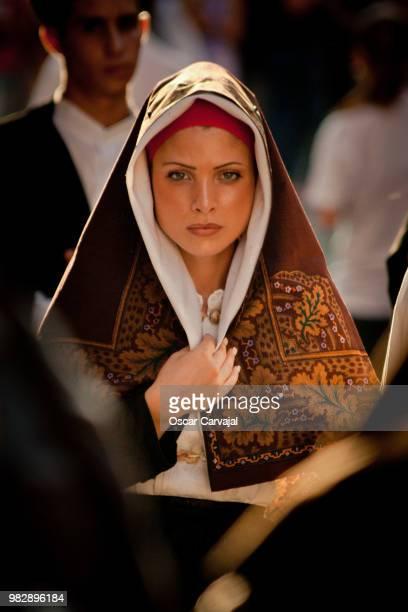 sardinian woman - carvajal stock photos and pictures
