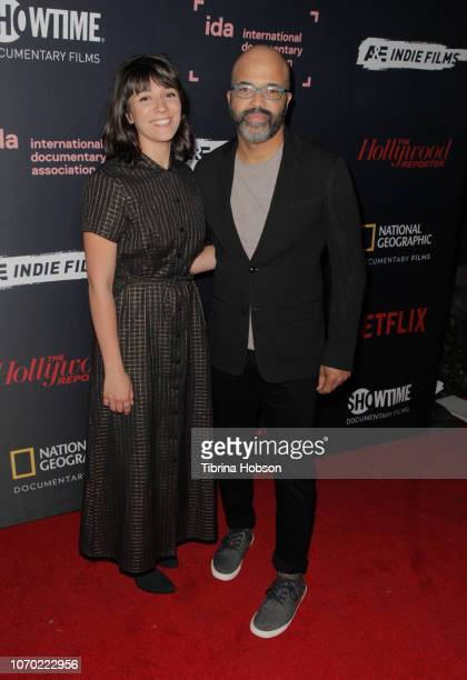 Sareen Hairabedian and Jeffrey Wright of 'We Are Not Done Yet' attend the 2018 IDA Documentary Awards on December 8 2018 in Los Angeles California