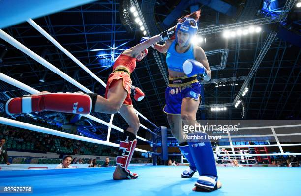 Sarel de Jong of the Netherlands fights against Cristina Caruso of Italy during the Invitation Sports Kickboxing Women's K1 65kg Quarterfinals of The...