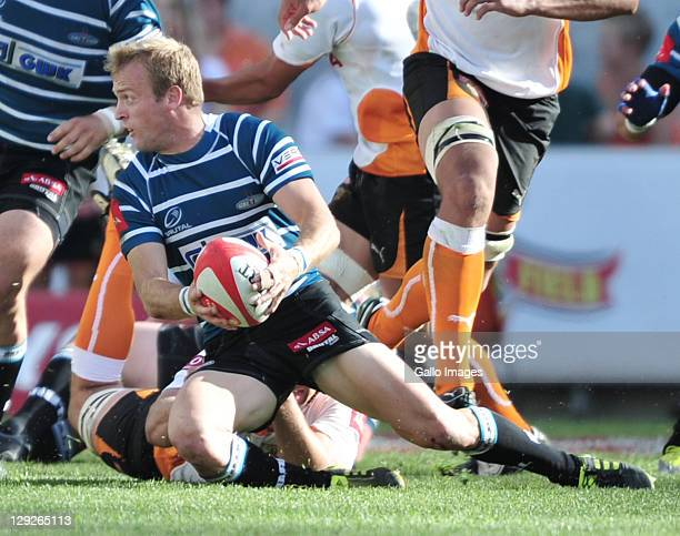 Sarel Pretorius of the GWK Griquas during the Absa Currie Cup match between Toyota Free State Cheetahs and GWK Griquas at Free State Stadium on...