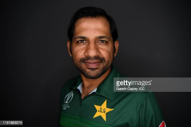 Sarfaraz Ahmed of Pakistan poses for a portrait prior to the ICC Cricket World Cup 2019 at on May 25 2019 in Cardiff Wales
