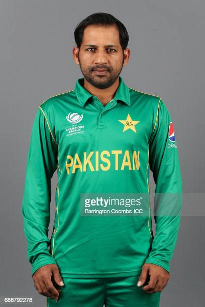 Sarfraz Ahmed of Pakistan poses during the portrait session at the Malmaison Hotel on May 26 2017 in Birmingham England