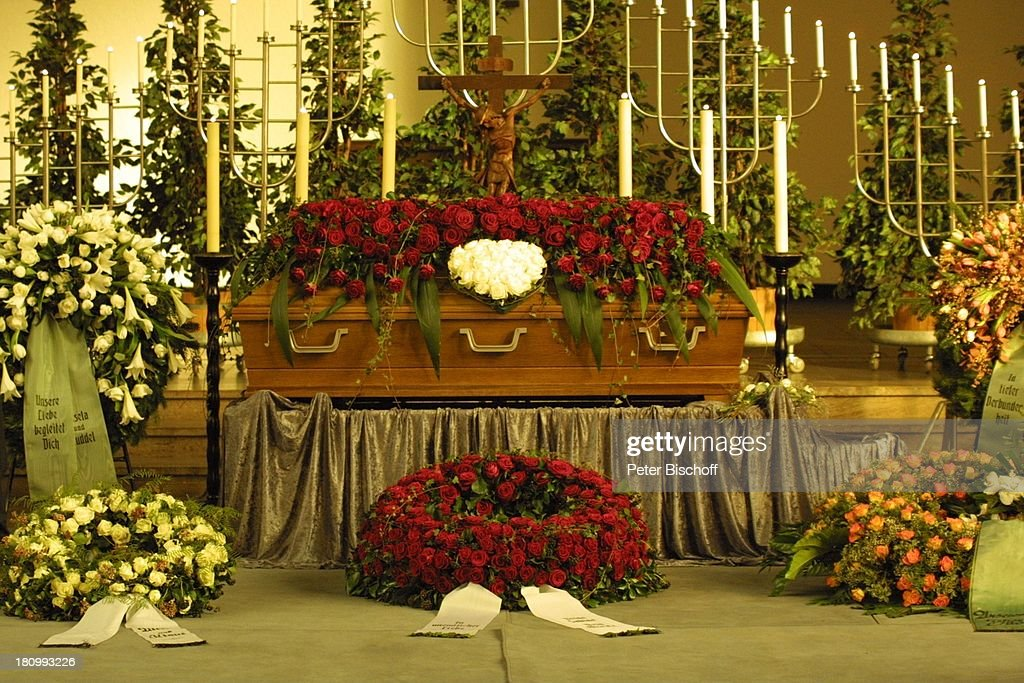 Sarg Blumen Gestecke Beerdigung Von Ehemann Dr Otto Riewoldt