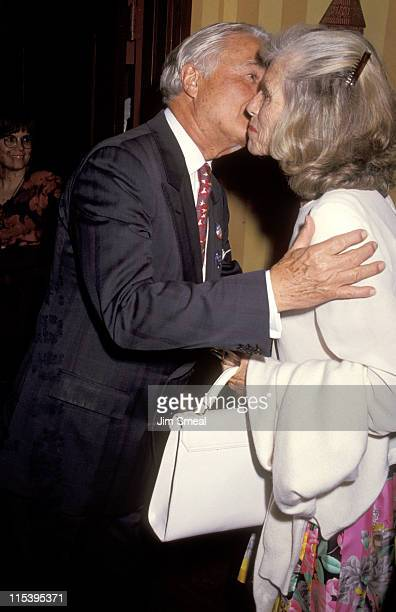 Sargent Shriver and Eunice Kennedy Shriver during Party for George McGovern 1992 at Tatou Club in New York New York United States