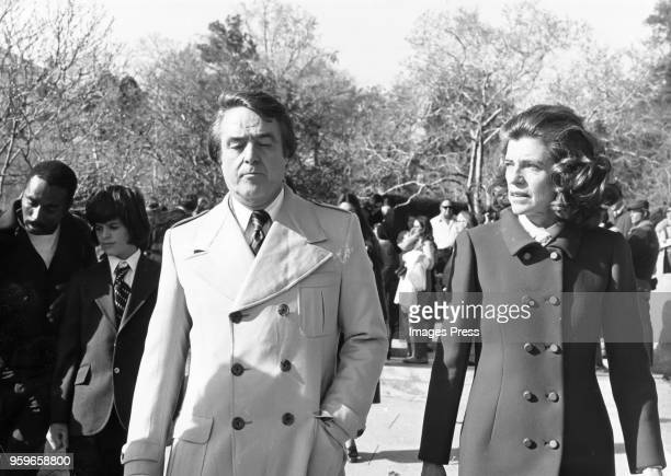 Sargent Shriver and Eunice Shriver in New York circa 1975