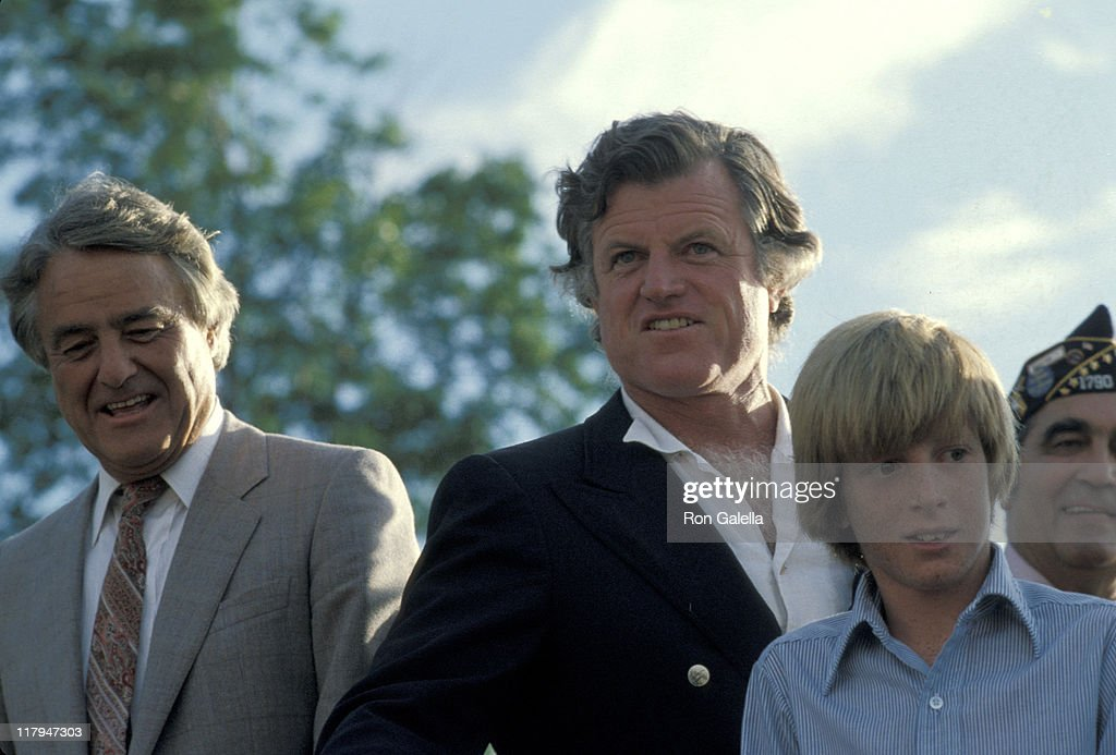 Sargent Shriver, Ted Kennedy, and Patrick Kennedy during 1979 Special Olympics at SUNY Brockport Campus in Brockport, New York, United States.