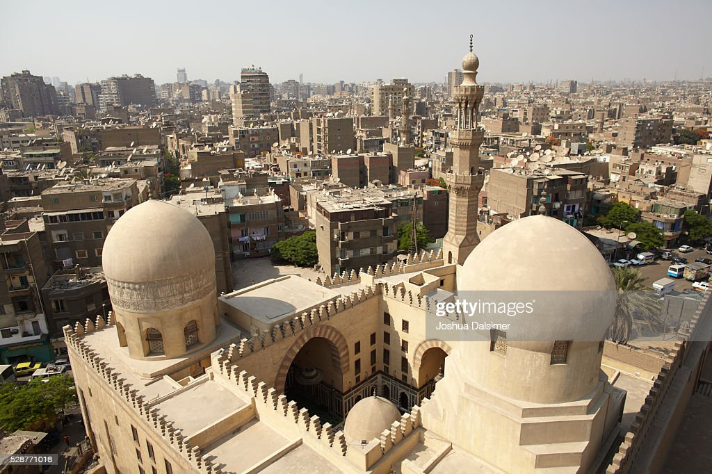 Sarghatmish Madrasa seen from the minaret of Ibn Tulun mosque : Stock Photo