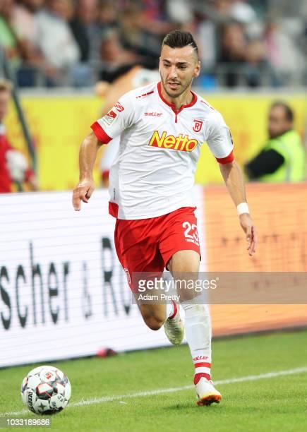 Sargis Adamyan of Jahn Regensburg in action during the Second Bundesliga match between SSV Jahn Regensburg and SG Dynamo Dresden at Continental Arena...