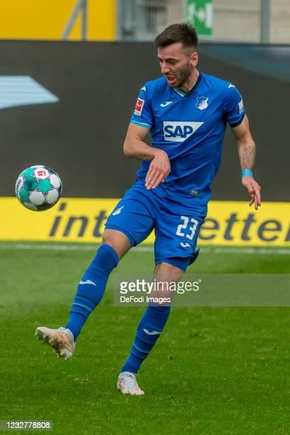 Sargis Adamyan of TSG 1899 Hoffenheim controls the Ball during the Bundesliga match between TSG Hoffenheim and FC Schalke 04 at PreZero-Arena on May...