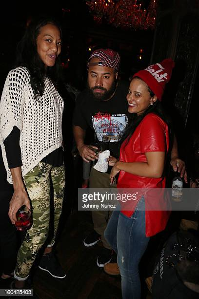Sari Baez Ebro and Capricorn Clark attend the DJ Enuff Birthday Celebration at The Griffin on January 30 2013 in New York City
