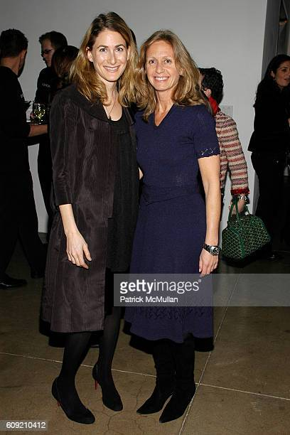 Sari Gueron and Liz Hopfan attend GLAMOUR Magazine Fashion Gives Back Party at Milk Studios Penthouse on February 1 2007 in New York City