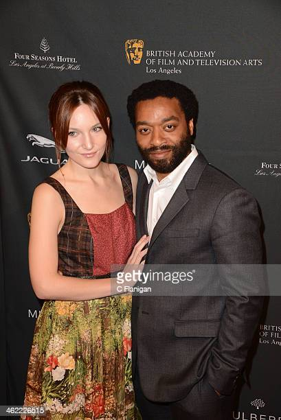 Sari Mercer and Chiwetel Ejiofor arrive at the BAFTA LA 2014 Awards Season Tea Party at Four Seasons Hotel Los Angeles at Beverly Hills on January 11...