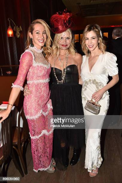 Sari Sloane Sonya Chodry and Jill Bikoff attend Julie Macklowe's 40th birthday Spectacular at La Goulue on December 19 2017 in New York City