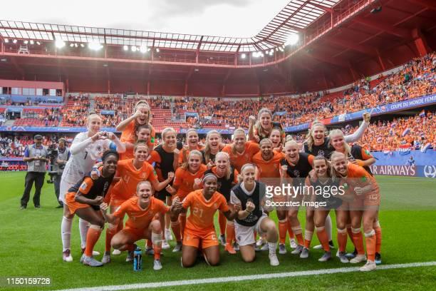 Sari van Veenendaal of Holland Women, Liza van der Most of Holland Women, Jill Roord of Holland Women, Dominique Bloodworth of Holland Women, Merel...