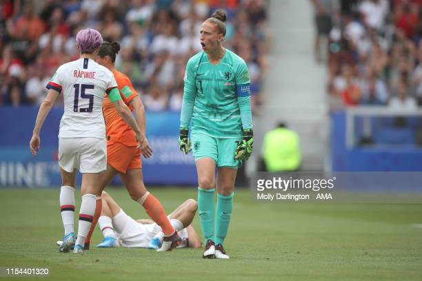 Sari Van Veenendaal of the Netherlands after Rose Lavelle of USA scores a goal to make it 20 during the 2019 FIFA Women's World Cup France Final...