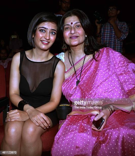 Sarika and Akshara Haasan at the Trailer launch of SHAMITABH