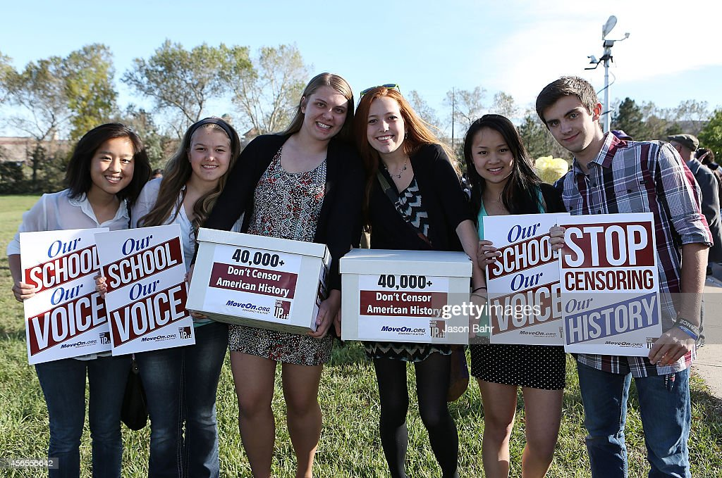Students Protest School Board's Censorship Of History Curriculum : News Photo