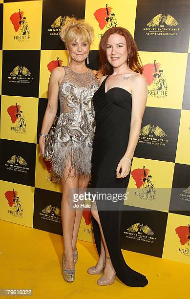 Sarina Potgieter and Katherine McEwan attends the Freddie for a Day charity event in aid of The Mercury Phoenix Trust at The Savoy Hotel on September...