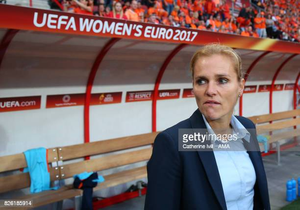 Sarina Weigman manager / head coach of Netherlands Women during the UEFA Women's Euro 2017 semi final match between Netherlands and England at De...