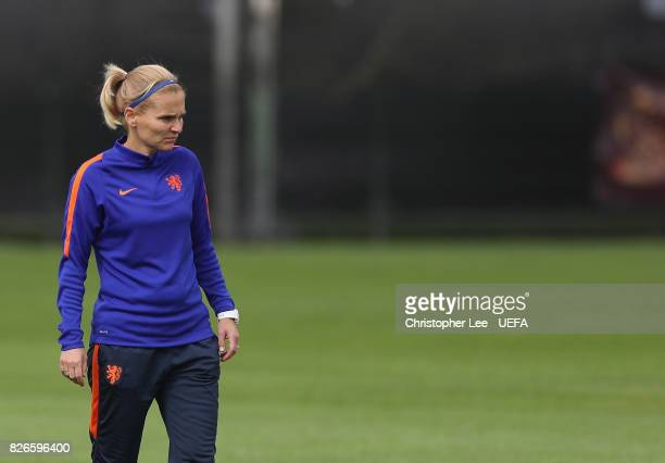 Sarina Wiegman head coach of Netherlands during the Netherlands Training session at SV De Lutte on August 5 2017 in Enschede Netherlands