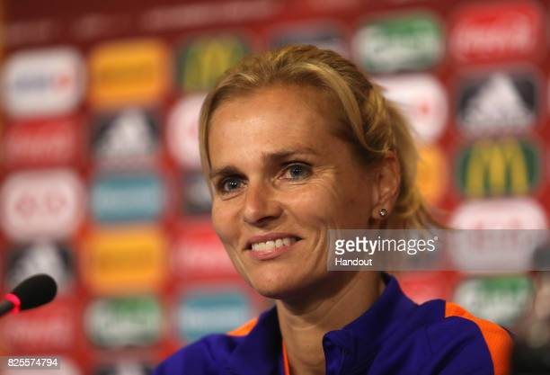 Sarina Wiegman head coach of Netherlands during the Netherlands Press Conference at FC Twente Stadion on August 2 2017 in Enschede Netherlands