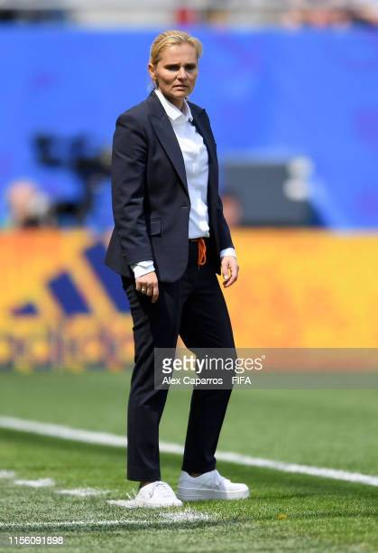 Sarina Wiegman, Head Coach of the Netherlands looks on during the 2019 FIFA Women's World Cup France group E match between Netherlands and Cameroon...