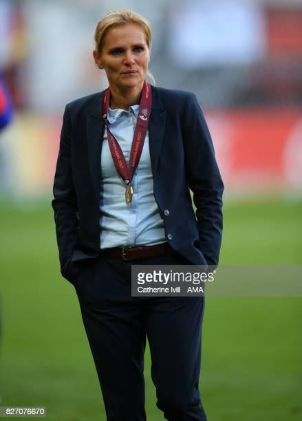 Sarina Wiegman manager / head coach of Netherlands Women during the UEFA Women's Euro 2017 final match between Denmark and Netherlands at De Grolsch...