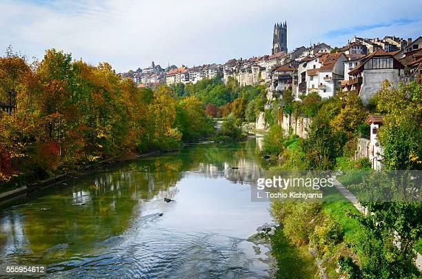 Sarine River in Fribourg, Switzerland