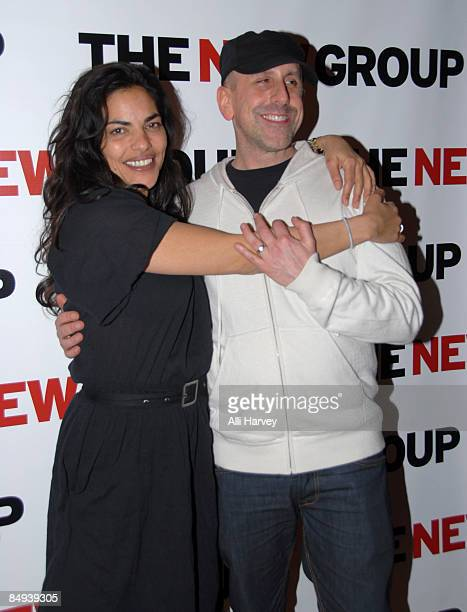 Sarita Choudhury and Scott Elliott attend the opening night party for Mourning Becomes Electra A Trilogy at Metro Marche on February 19 2009 in New...