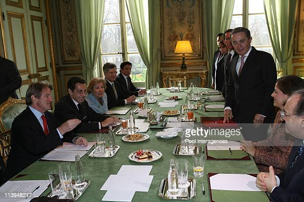 Sarkozy meets his Colombian counterpart over hostage crisis In Paris France On January 21 2008French President Nicolas Sarkozy and Bernard Kouchner...