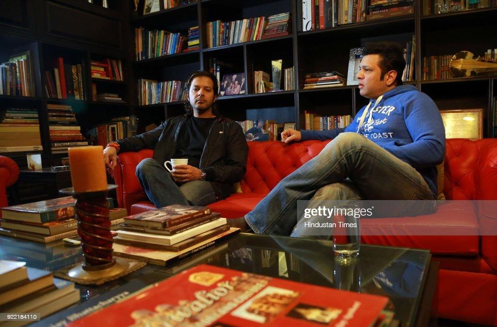 HT Exclusive: Profile Shoot Of Sarod Brothers Amaan Ali Bangash And Ayaan Ali Bangash : News Photo