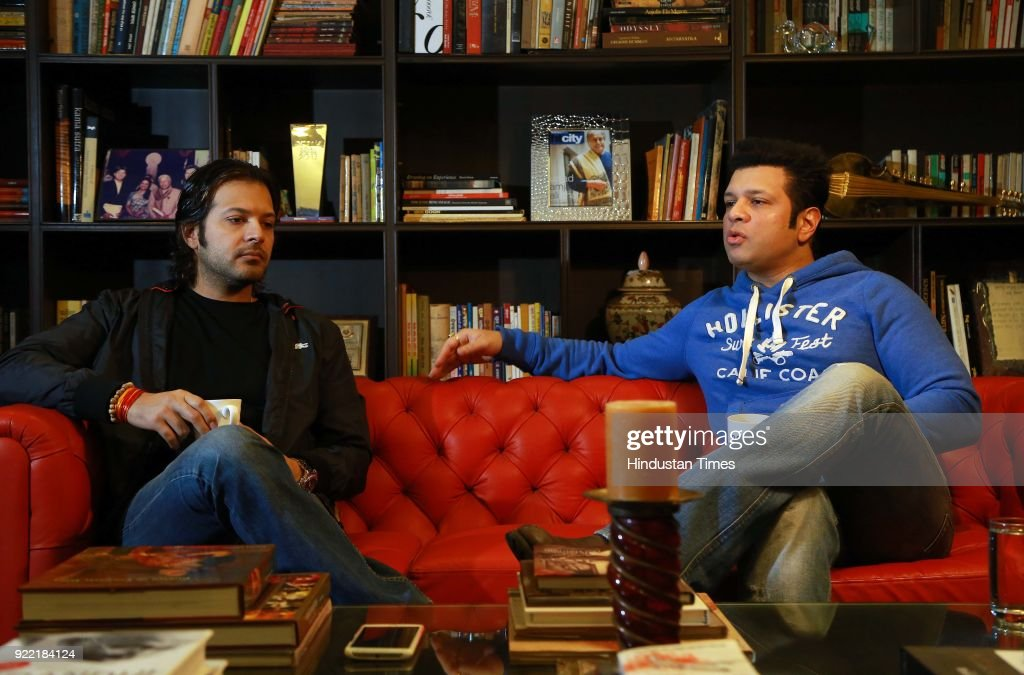 Sarod player Ayaan Ali Bangash and Amaan Ali Bangash (R) during an exclusive interview with HT City-Hindustan Times, on February 1, 2018 in New Delhi, India. Sarod brothers Amaan Ali and Ayaan Ali believe that Indian classical musicians have a lot to offer to Bollywood films and filmmakers should collaborate with them.