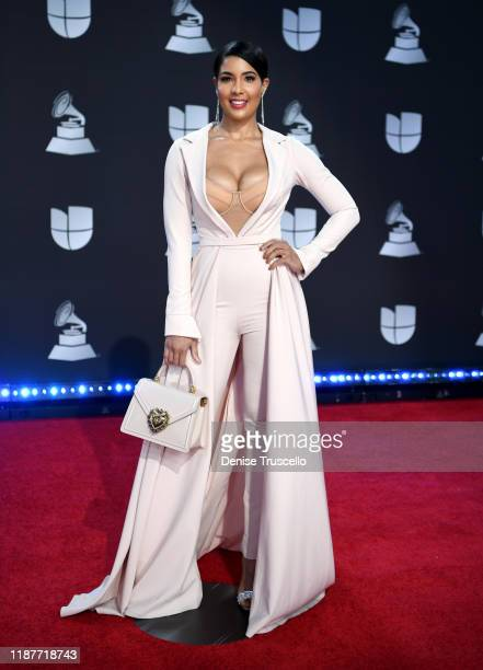 Sarodj Bertin attends the 20th annual Latin GRAMMY Awards at MGM Grand Garden Arena on November 14 2019 in Las Vegas Nevada