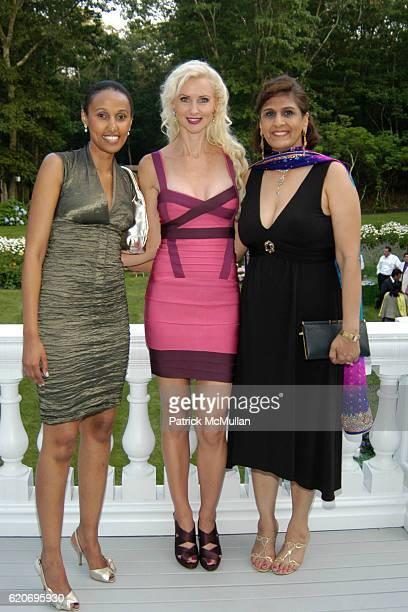 Saron Kepema Katrina Peebles and Yasmeen Sorathia attend The Rush Philanthropic ART FOR LIFE Party hosted by Don and Katrina Peebles at The Home of...