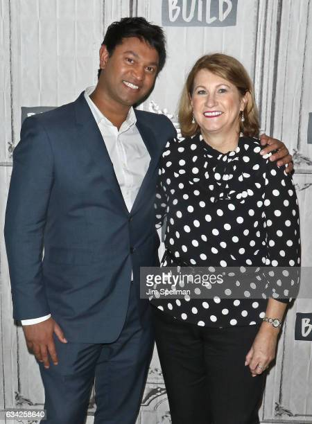Saroo Brierley and Sue Brierley attend the Build series to discuss Lion at Build Studio on February 8 2017 in New York City