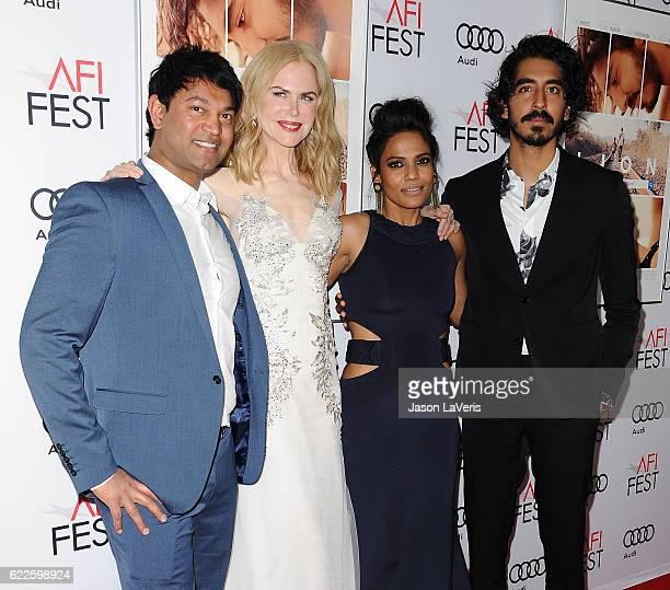 Saroo Brierley Nicole Kidman Priyanka Bose and Dev Patel attend the premiere of Lion at the 2016 AFI Fest at TCL Chinese 6 Theatres on November 11...