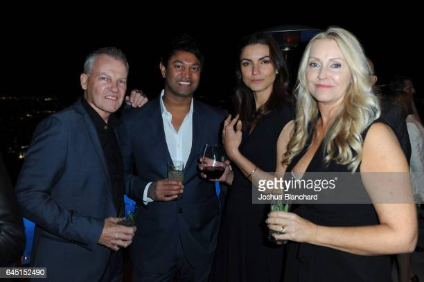 Saroo Brierley poses with his family at a cocktail party to kickoff Independent Spirit Awards and Oscar weekend hosted by Piaget and The Weinstein...