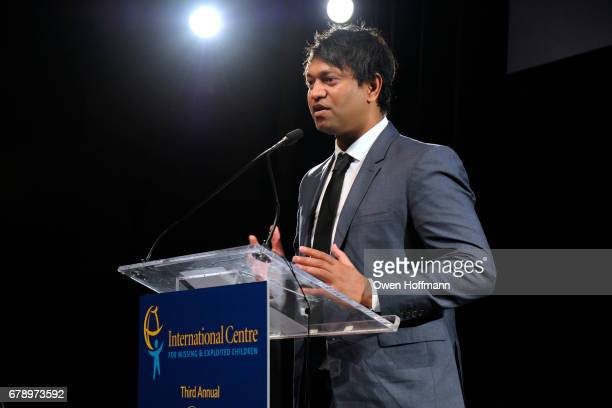 Saroo Brierley speaks at International Centre for Missing Exploited Children 2017 Gala for Child Protection at Gotham Hall on May 4 2017 in New York...