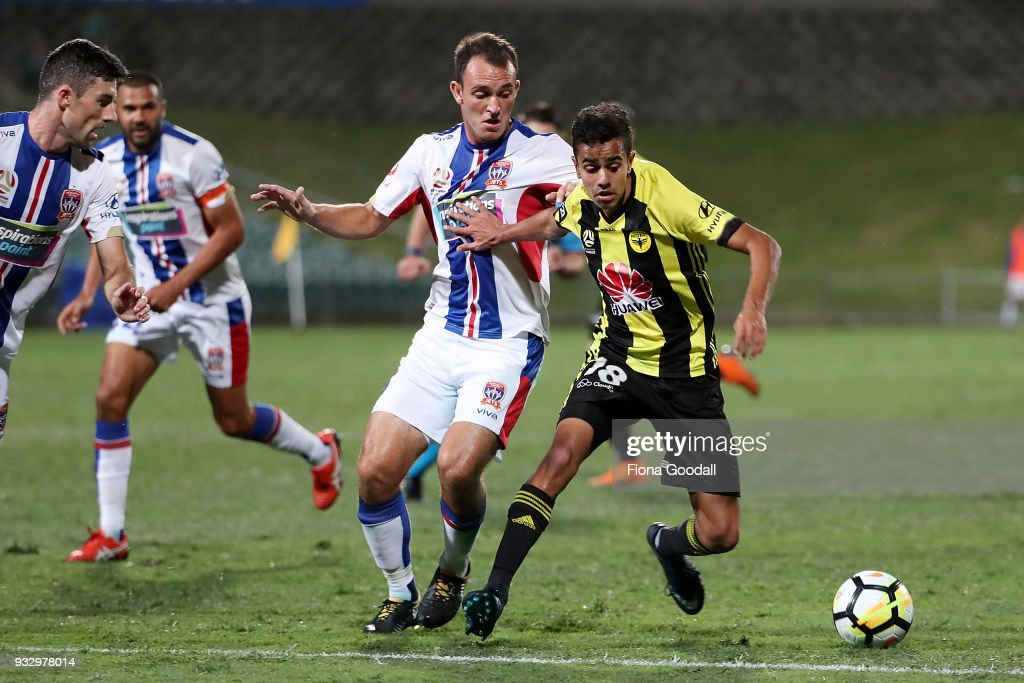 A-League Rd 23 - Wellington v Newcastle : News Photo