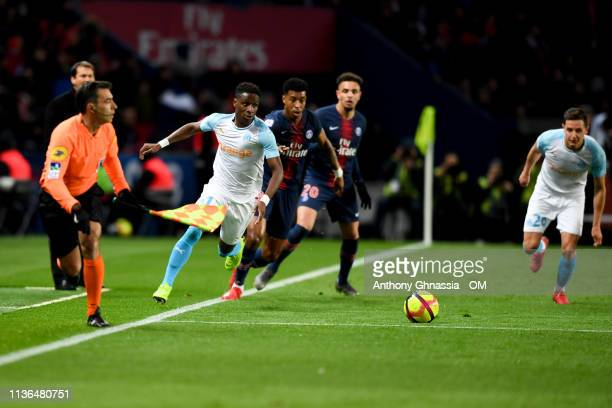Sarr during the Ligue 1 match between Paris Saint Germain and Olympique de Marseille at Parc des Princes on March 17 2019 in Paris France