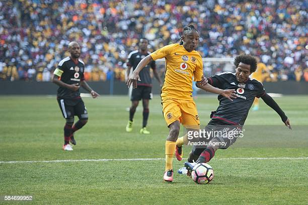 Sarr Issa of Orlando Pirates in action against Ekstein Hendrick Kaizer Chiefs FC during 2016 Carling Black Label Cup between Kaizer Chiefs FC and...