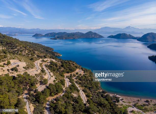 sarsala bay in dalaman, mugla, turkey - aegean turkey stock pictures, royalty-free photos & images