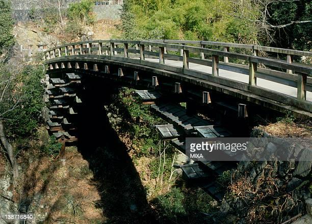 saru bridge, otsuki, yamanashi, japan - 山梨県 ストックフォトと画像