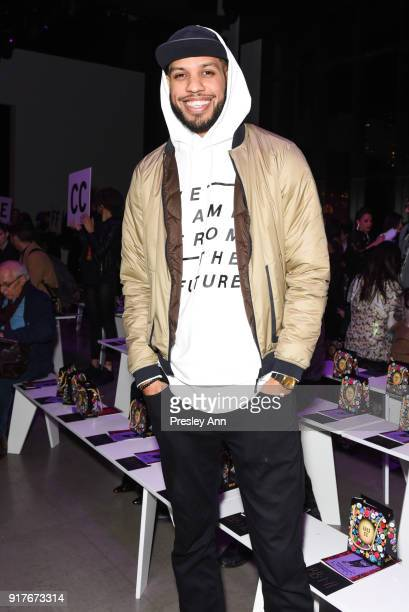 Sarunas J Jackson attends Anna Sui Front Row February 2018 New York Fashion Week at Spring Studios on February 12 2018 in New York City