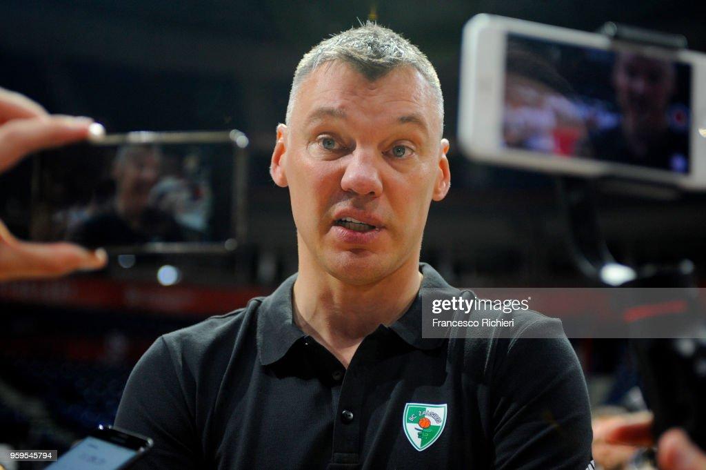 Sarunas Jasikevicius, Head Coach of Zalgiris Kaunas during the 2018 Turkish Airlines EuroLeague F4 Zalgiris Kaunas Official Practice at Stark Arena on May 17, 2018 in Belgrade, Serbia.