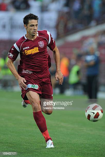 Sasa Bjelanovic of CFR 1907 Cluj in action during the Liga 1 match between CFR 1907 Cluj and Astra Ploiesti at Constantin Radulescu Stadium on August...